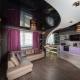 Натяжные черно-белые потолоки: варианты дизайна в разных комнатах
