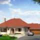 Одноэтажные дома с гаражом: проекты и виды конструкций