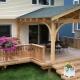 Деревянное крыльцо с навесом для частного дома
