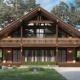 Дом-шале из бруса: проекты и особенности