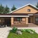 Проекты одноэтажного дома с террасой и гаражом