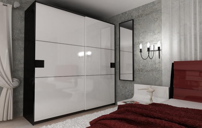 бело черный шкаф фото