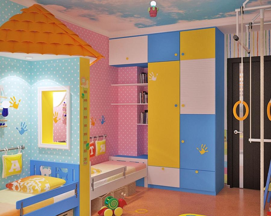 Ремонт в детской комнате для двух детей
