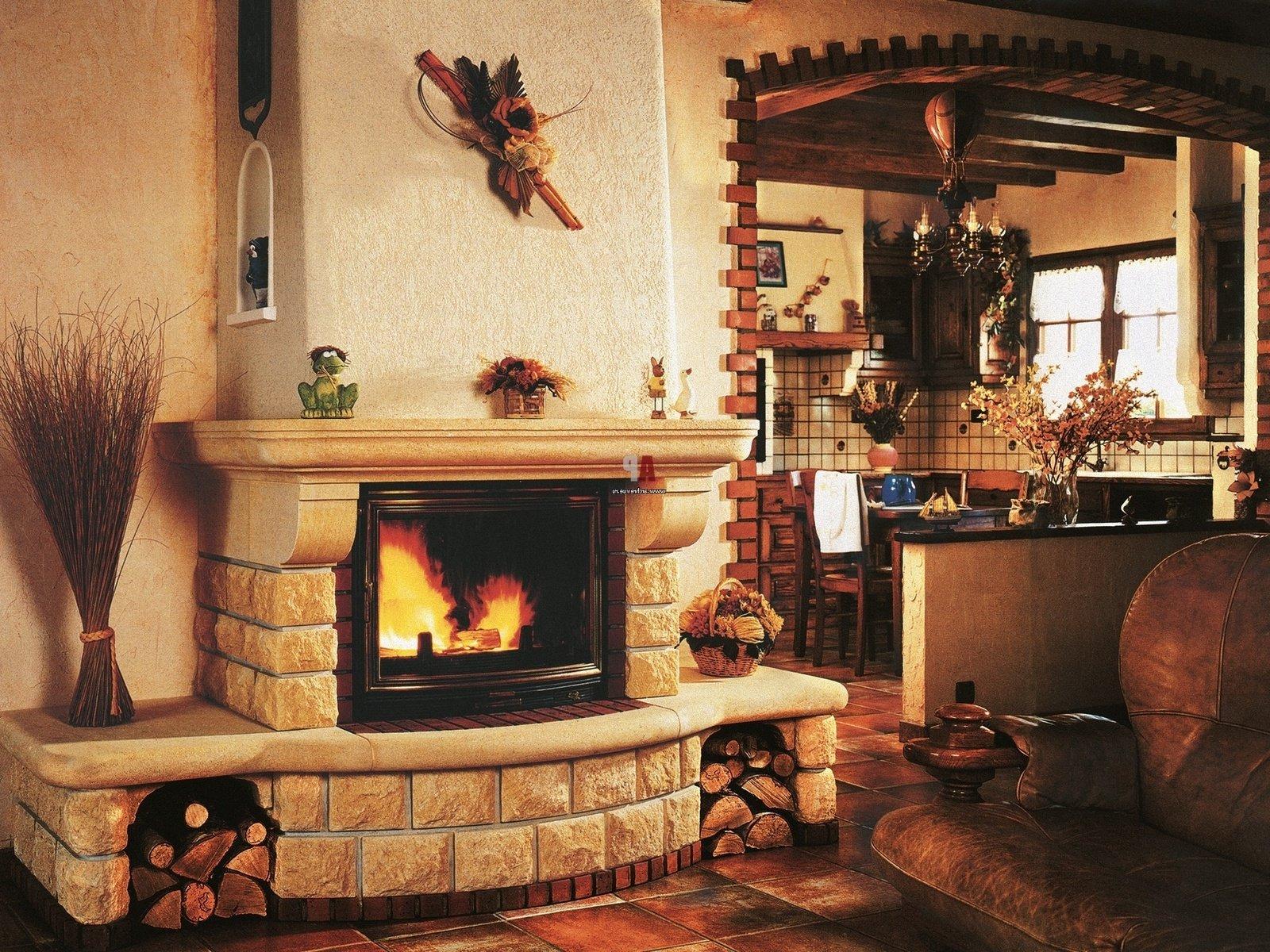дизайн печи-камина в доме фото