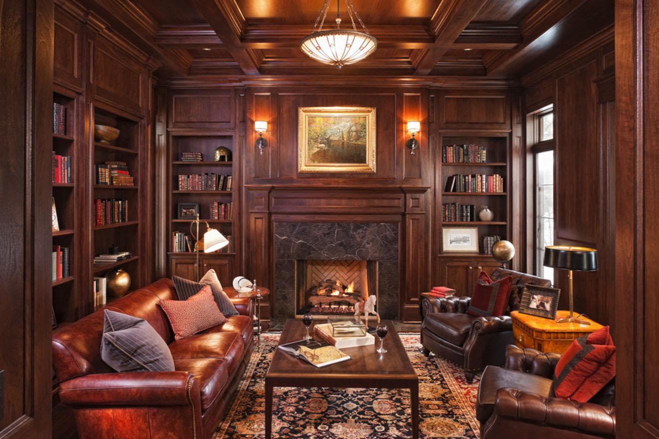 Дизайн гостиных комнат из дерева
