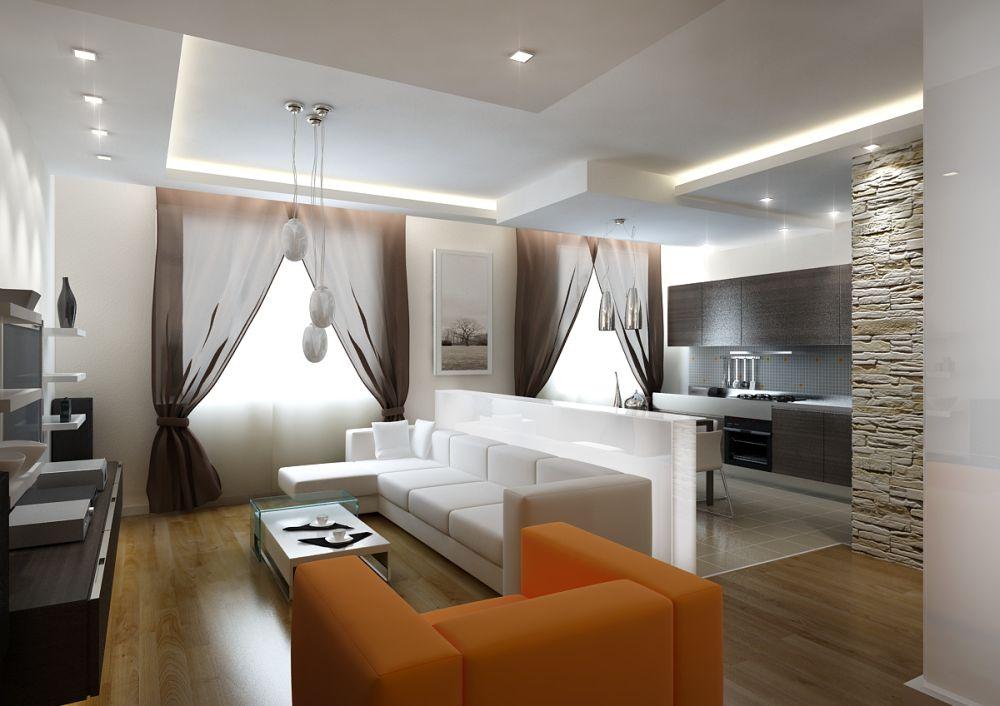 Интерьер кухни-гостиной фото в квартире