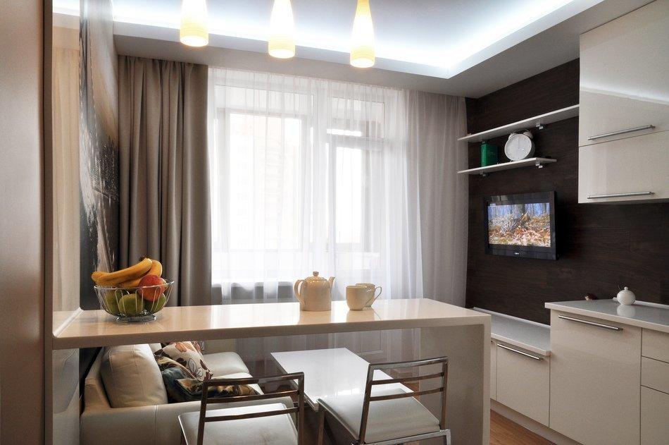 Гостиная кухня 11 кв м дизайн