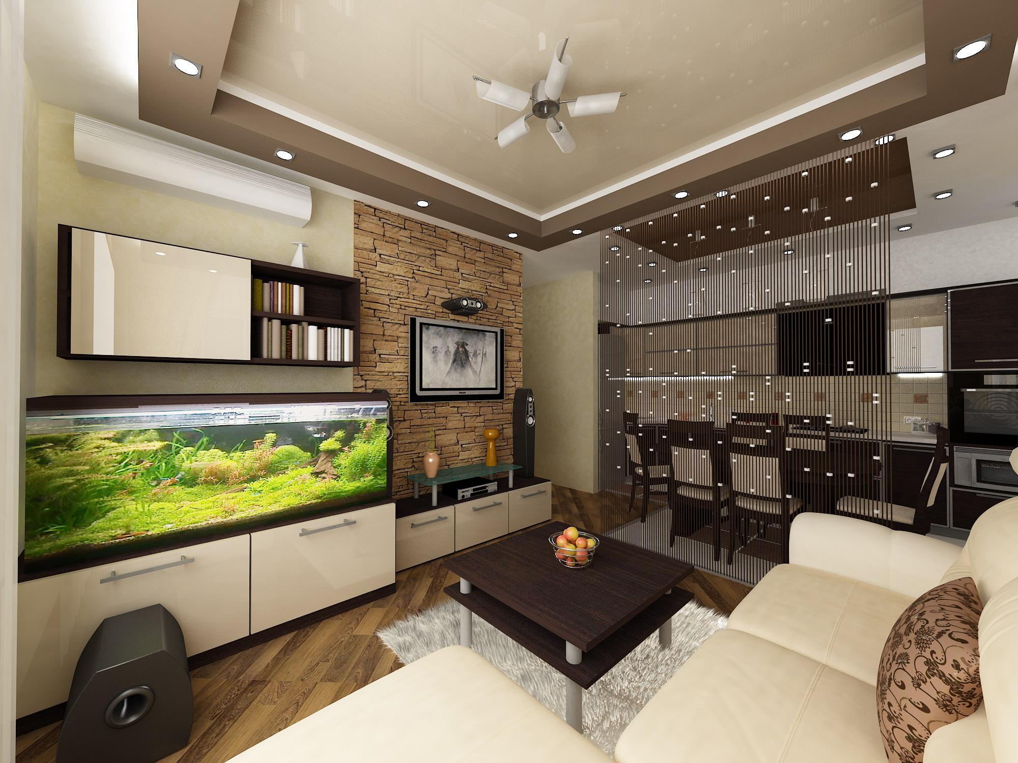 Кухня-гостиная 18 метров дизайн