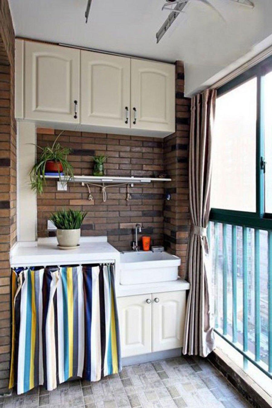 Переделка балкона в кухню фото.