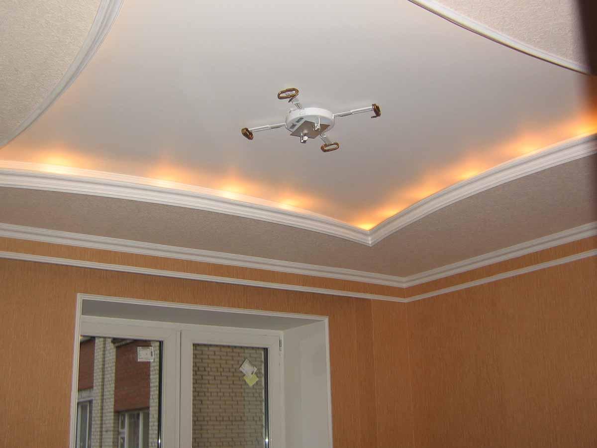 Дизайн простых потолков из гипсокартона для