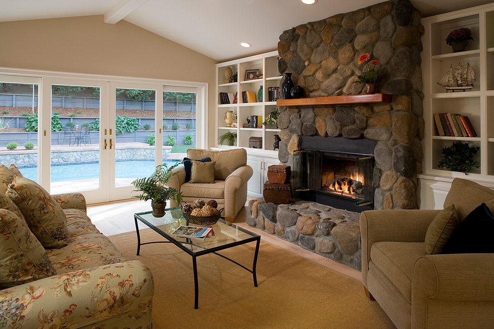 Фото гостиной с камином своими руками 967