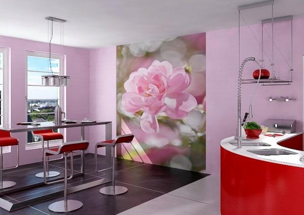 Фотообои розы на кухне идеи интерьера фото