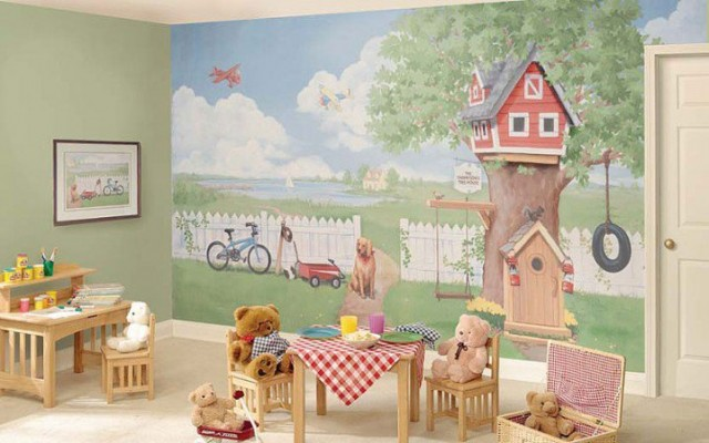 фотообои для детской комнаты для девочек 68 фото дизайн для стен