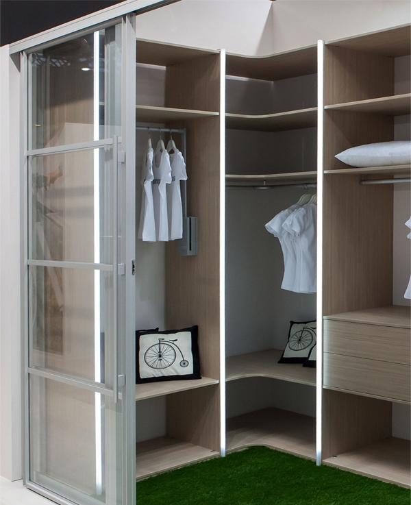 Фурнитура для гардеробной: системы складных дверей для гарде.