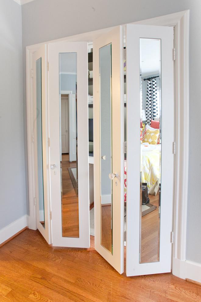 Двери в гардеробную раздвижные