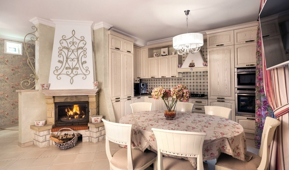 кухня гостиная в стиле прованс 38 фото дизайн современного