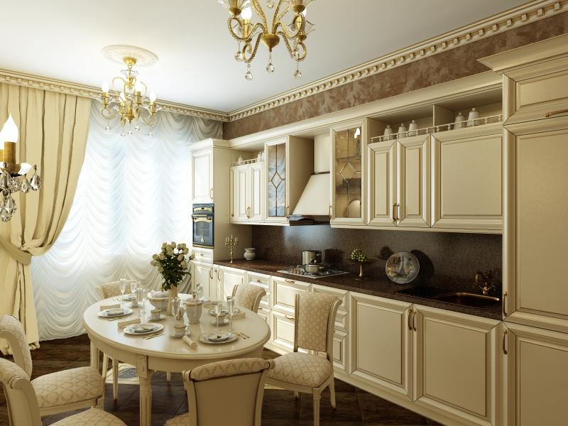 Кухни кремовые дизайн