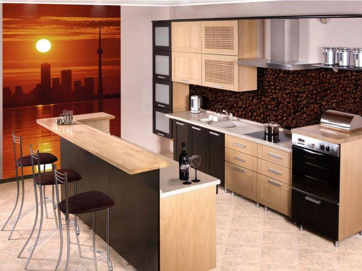 Дизайн кухонь с барной стойкой в квартире