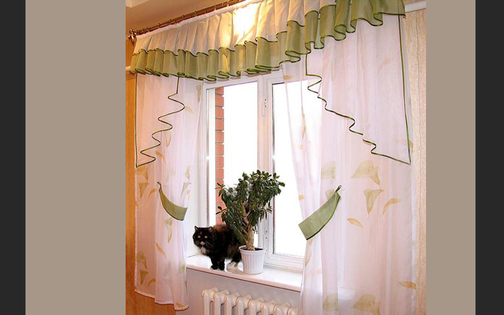 Идеальные шторы для вашей кухни, фото.