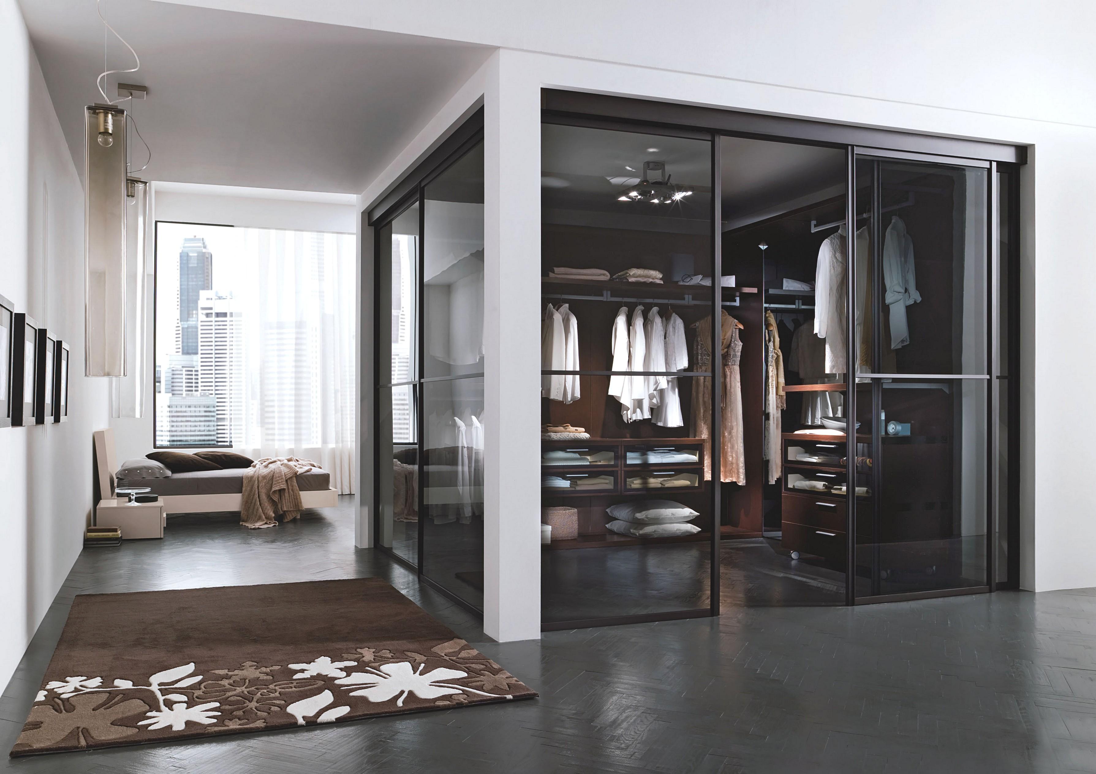 Фото проектов гардеробных комнат. - фото спальня с гардеробн.