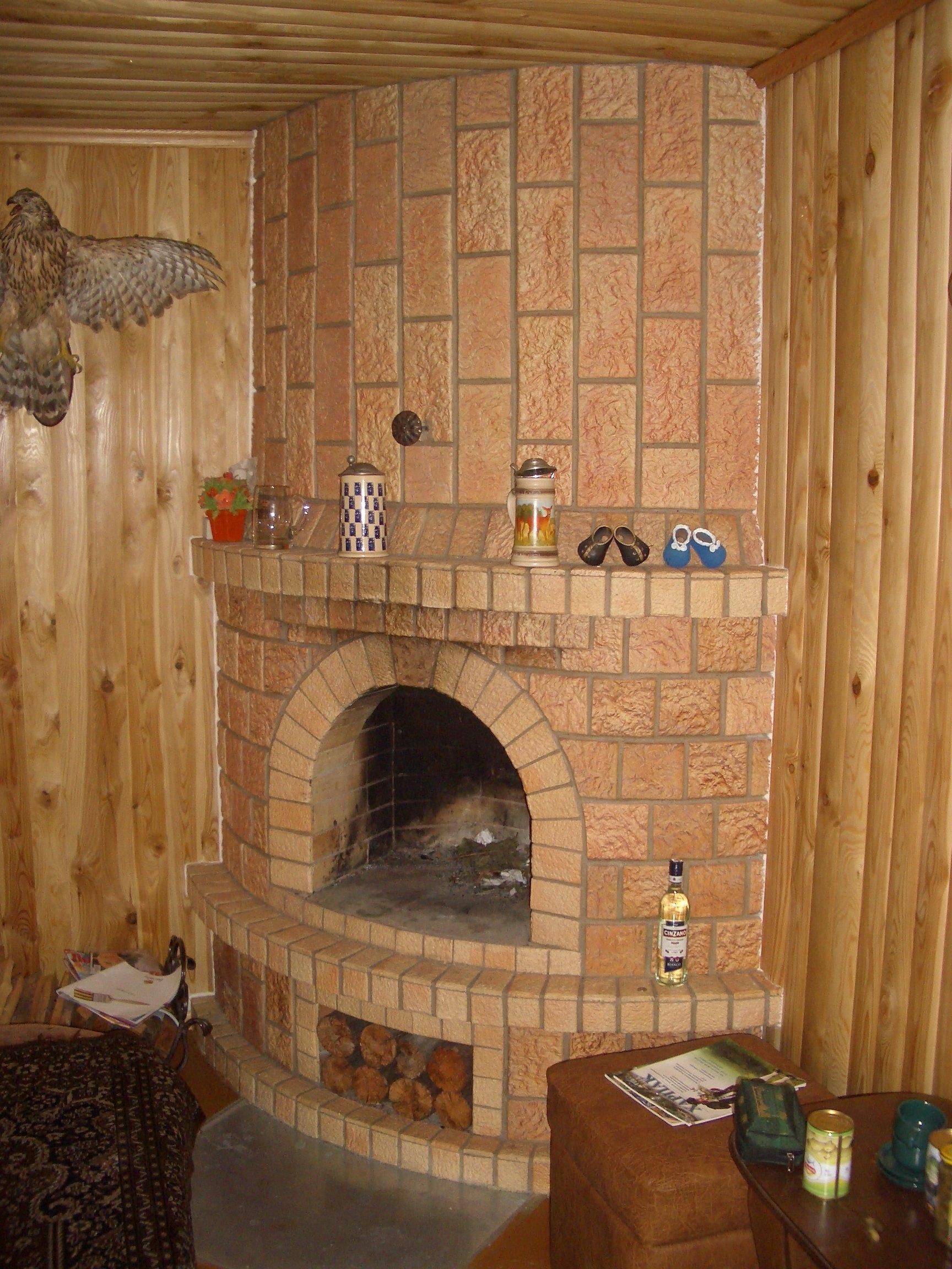Облицовка печи в бане керамической плиткой