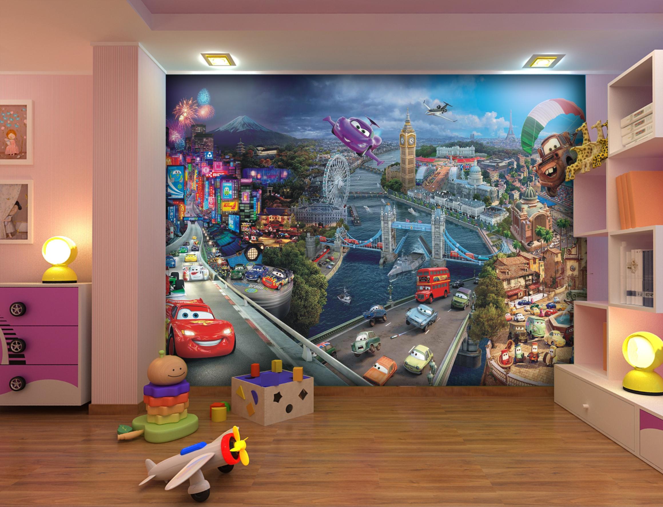 Фотообои в детской комнате для мальчика фото идеи интерьера