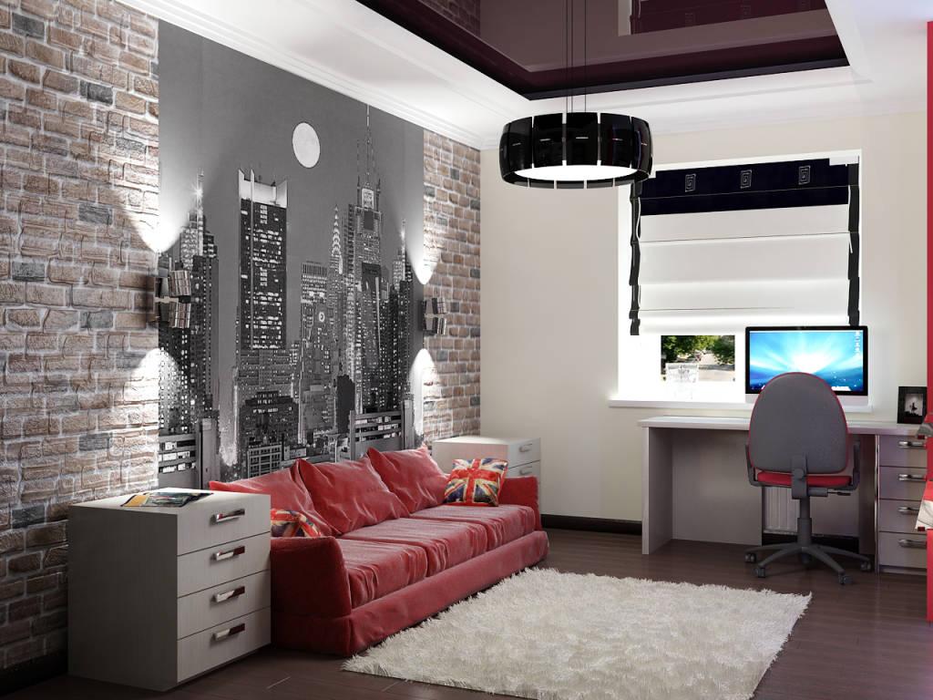 Интерьер дизайн в комнате подростка