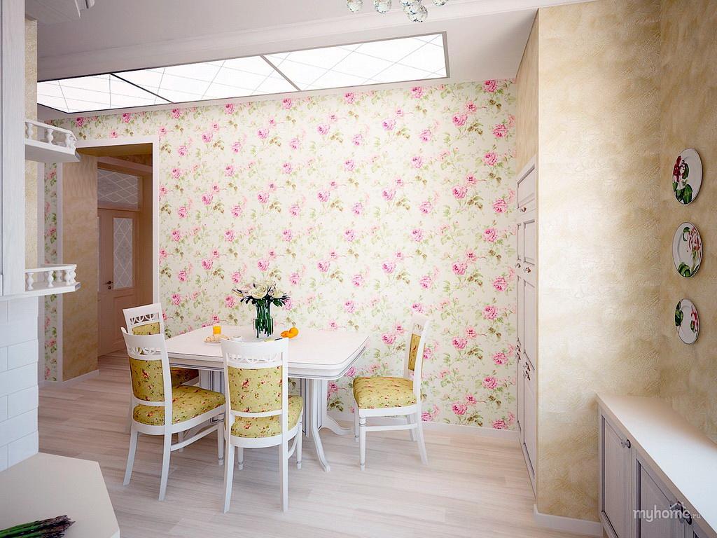 Стиль прованс в интерьере кухни фото обои
