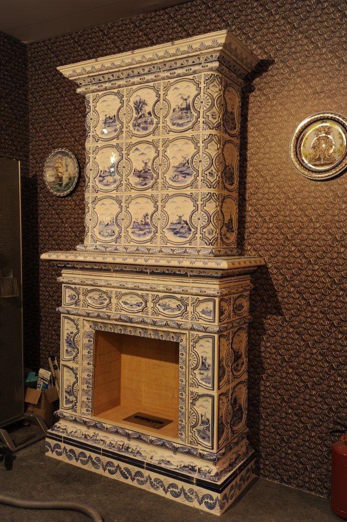 Отделка камина керамической плиткой своими руками 19