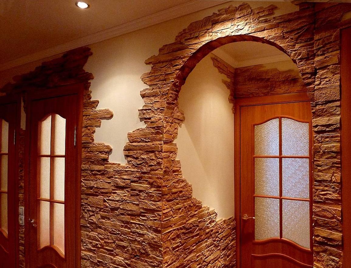 Фото дизайна декоративный камень