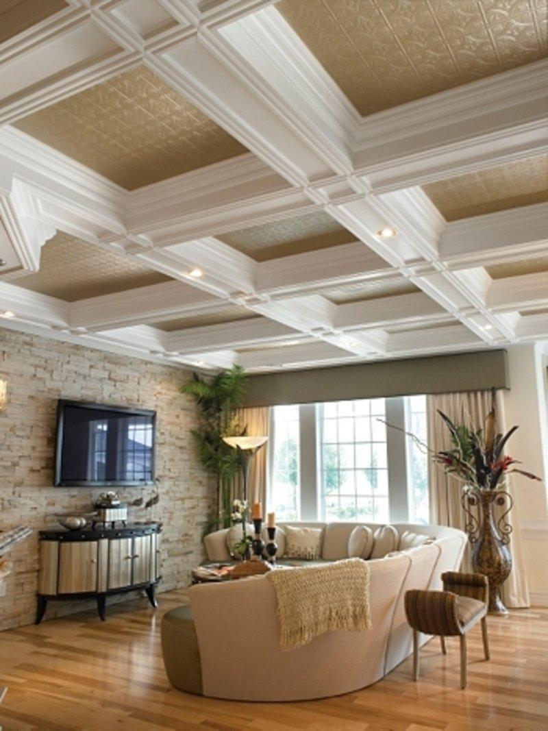 Примеры оформления потолка на кухне: 15 стильных решений
