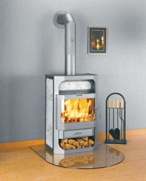 Печка-камин для обогрева