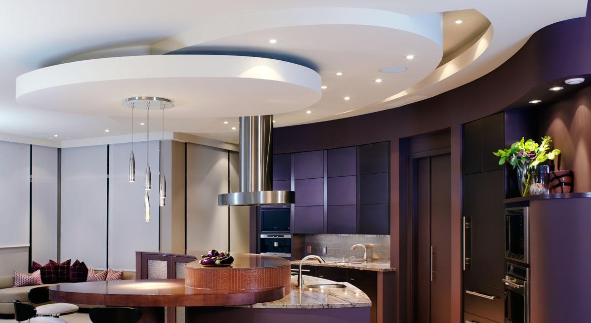 идеи потолка из гипсокартона для кухни фото нижегородской