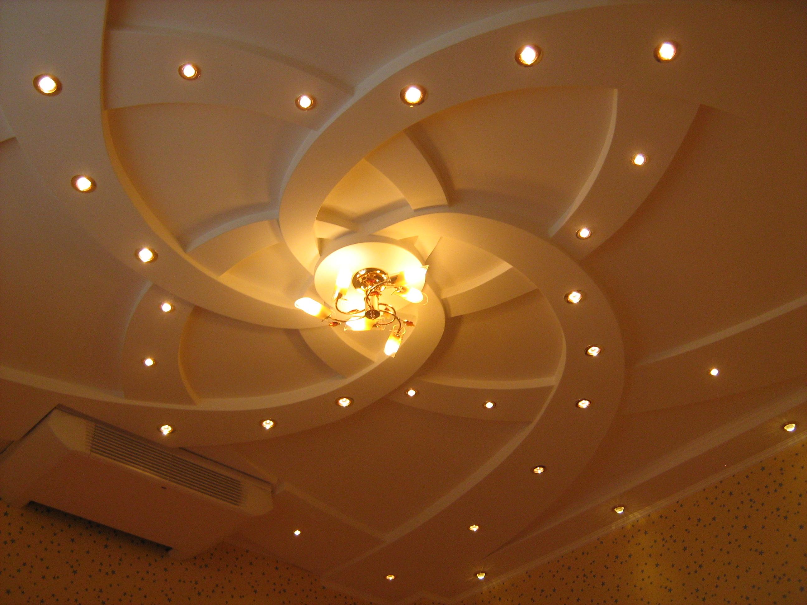 Фотографии образцов дизайна разноуровневых потолков из гипсокартона