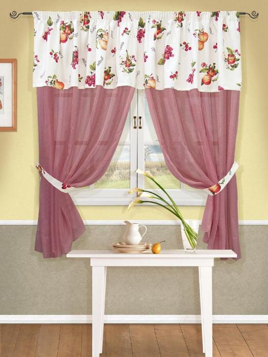 Деревенские шторы для кухни своими руками: фото