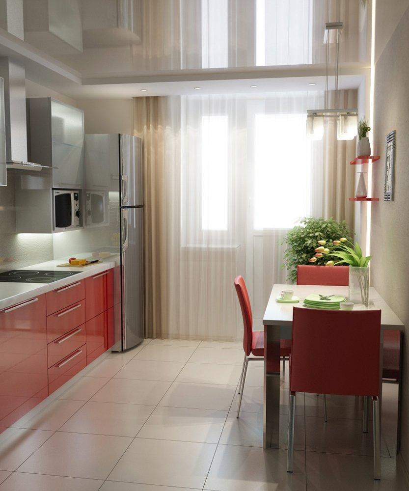 Шторы на кухню с балконной дверью (95 фото): шторы для кухни.