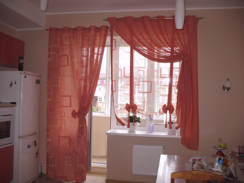Тюль для кухни с балконной дверью дизайн.