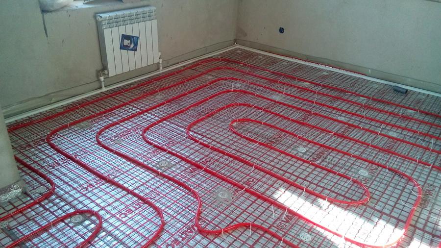 Как сделать в теплые полы в квартире.