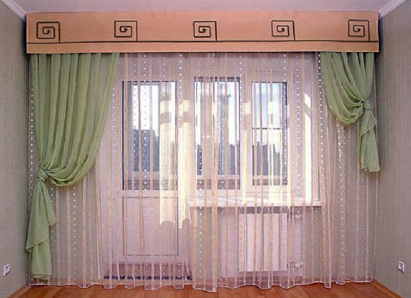 Тюль на кухню для балконной двери (38 фото): тюль на балкон.