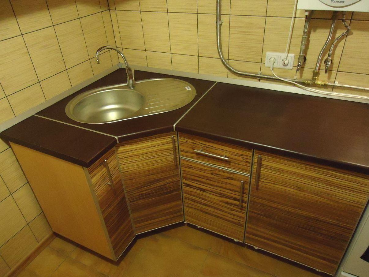 Кухонный шкаф под мойку угловой своими руками