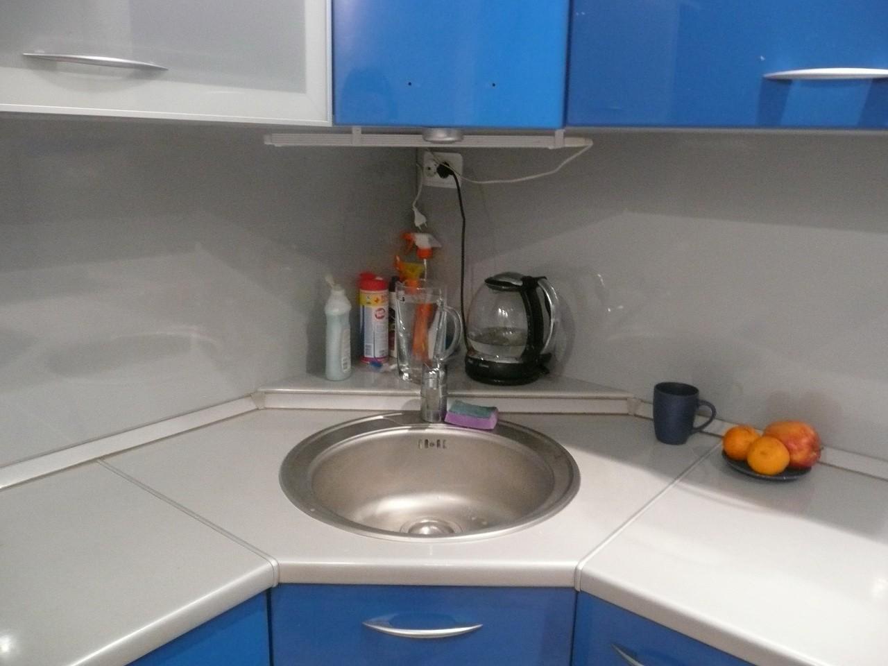 Кухонный шкаф под мойку угловой своими руками фото 857