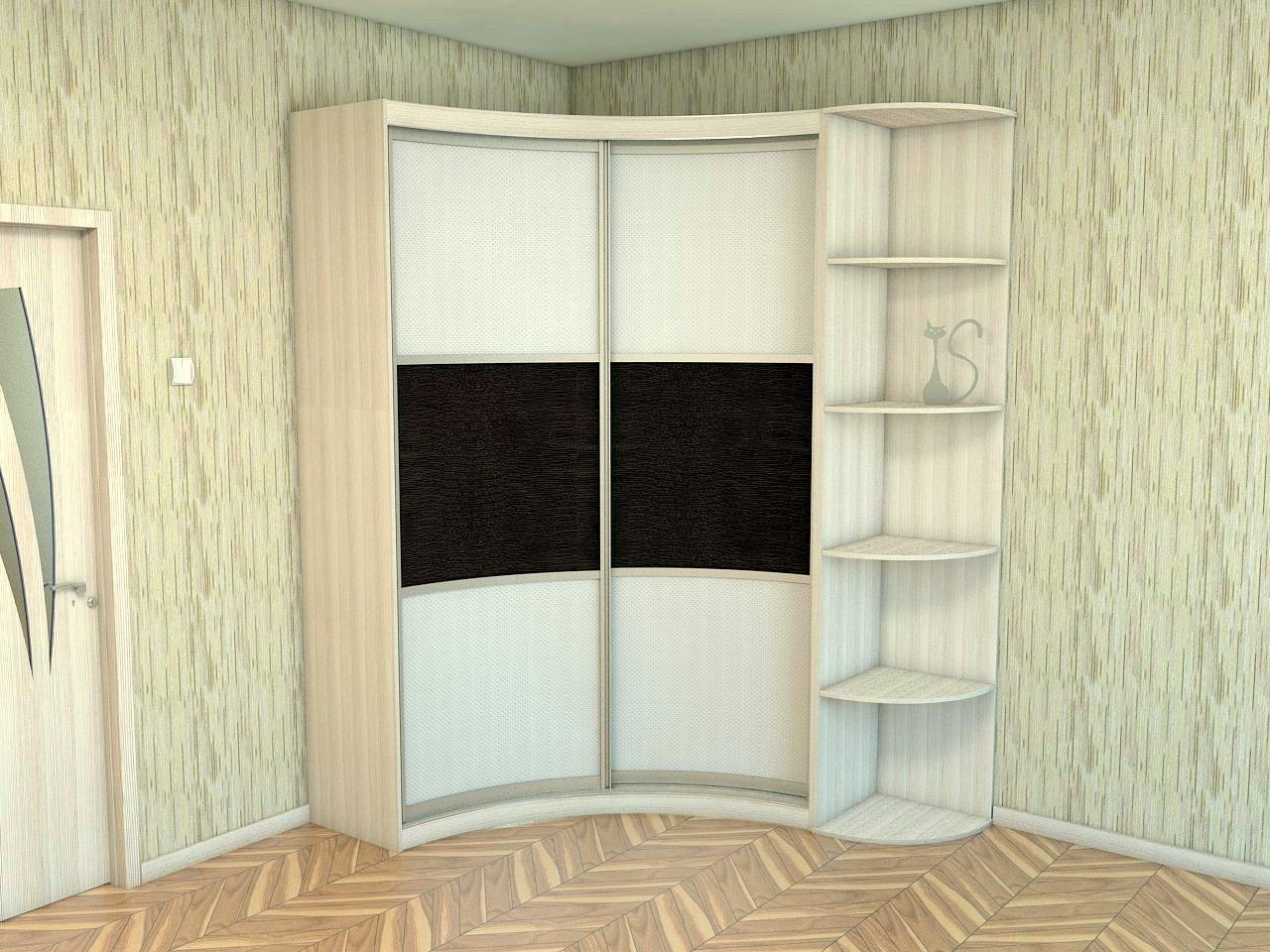Образцы углового шкафа в спальню на заказ в заволжье.