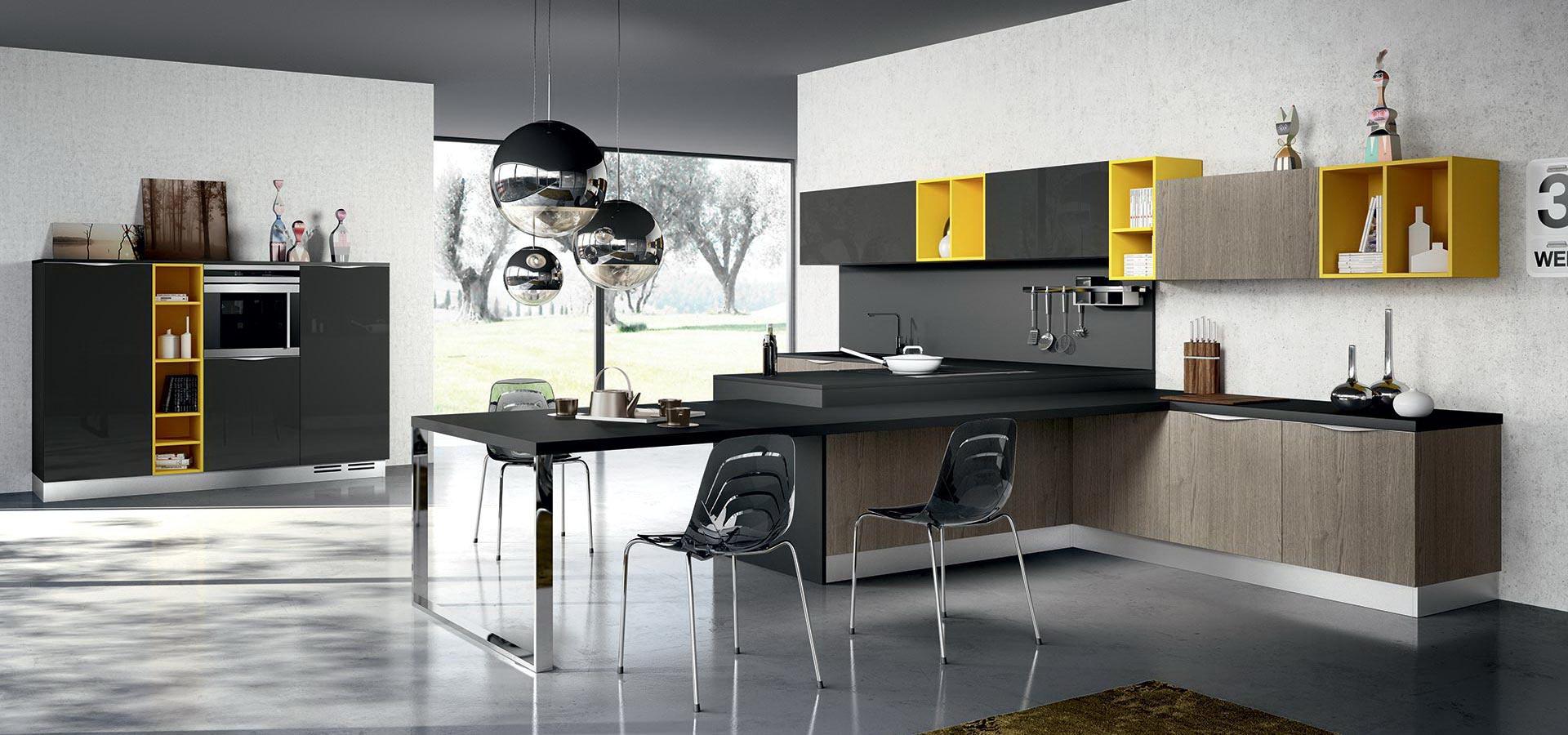 Модели современных кухонь фото