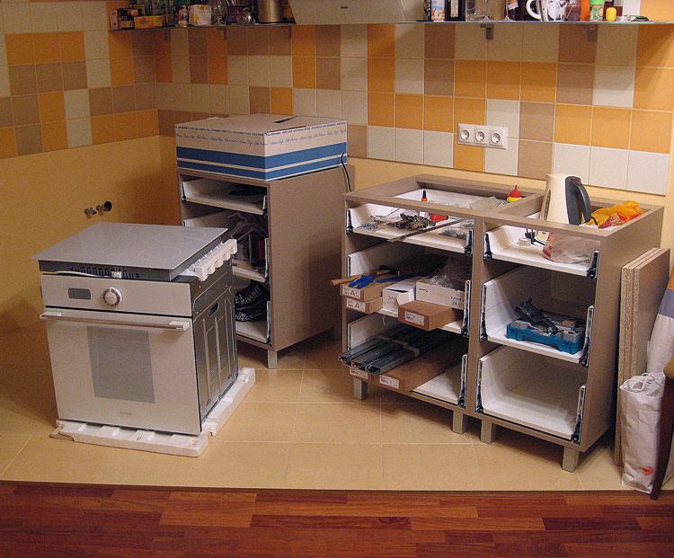 Как самому сделать шкафы для кухни 53