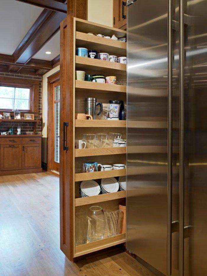 Выкатные ящики для кухни своими руками 40
