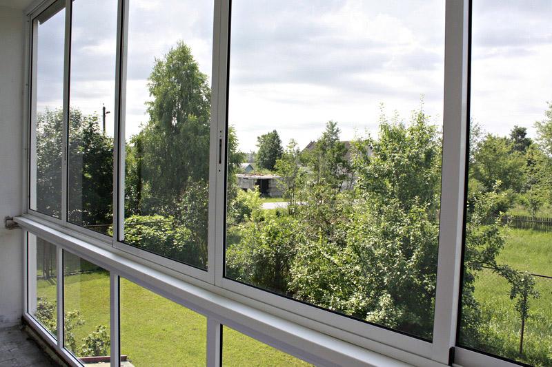 Монтаж алюминиевых окон остекление балкона