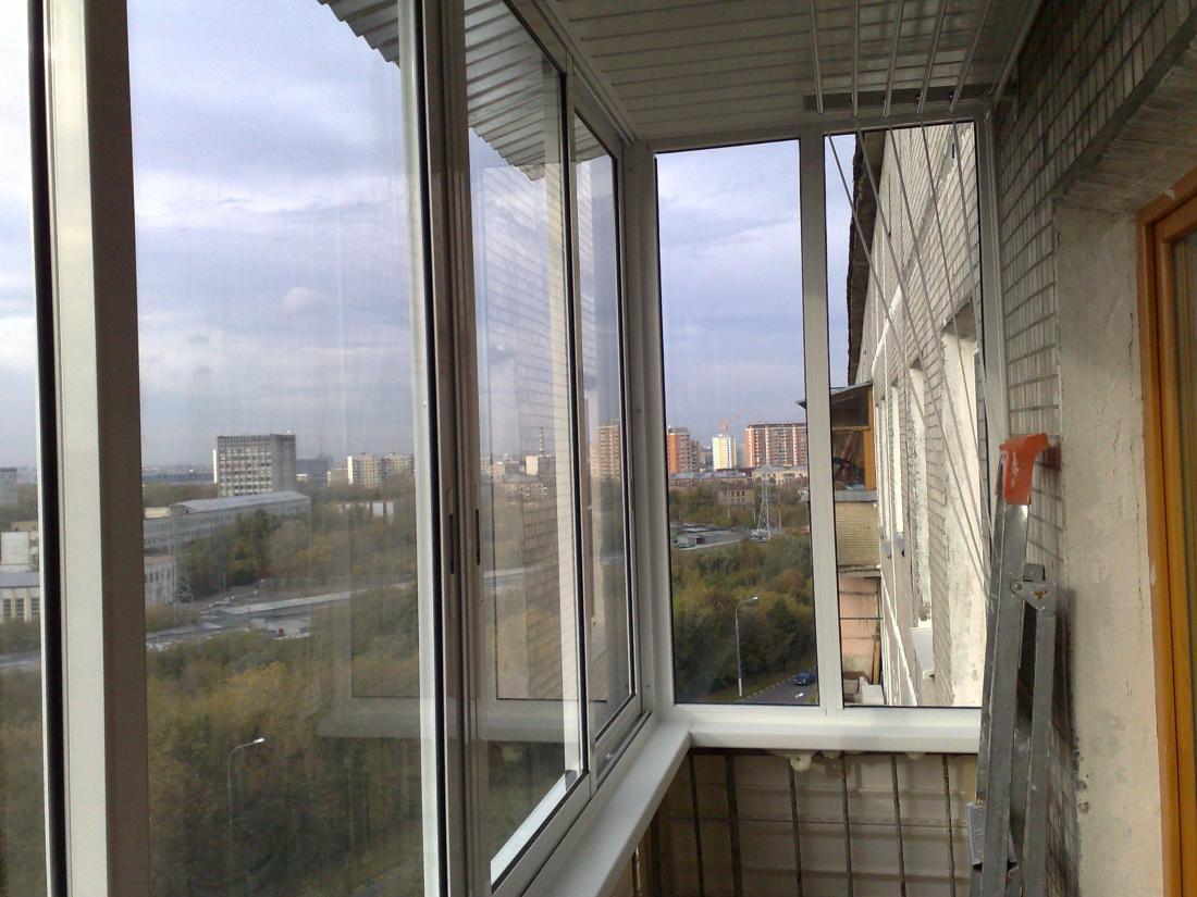 Алюминиевое остекление балконов (45 фото): профиль и рама дл.
