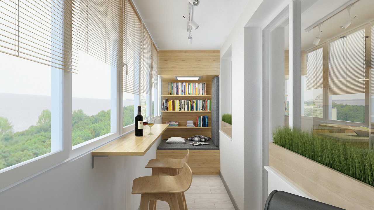 19 больших идей для оформления небольших уютных балконов и л.