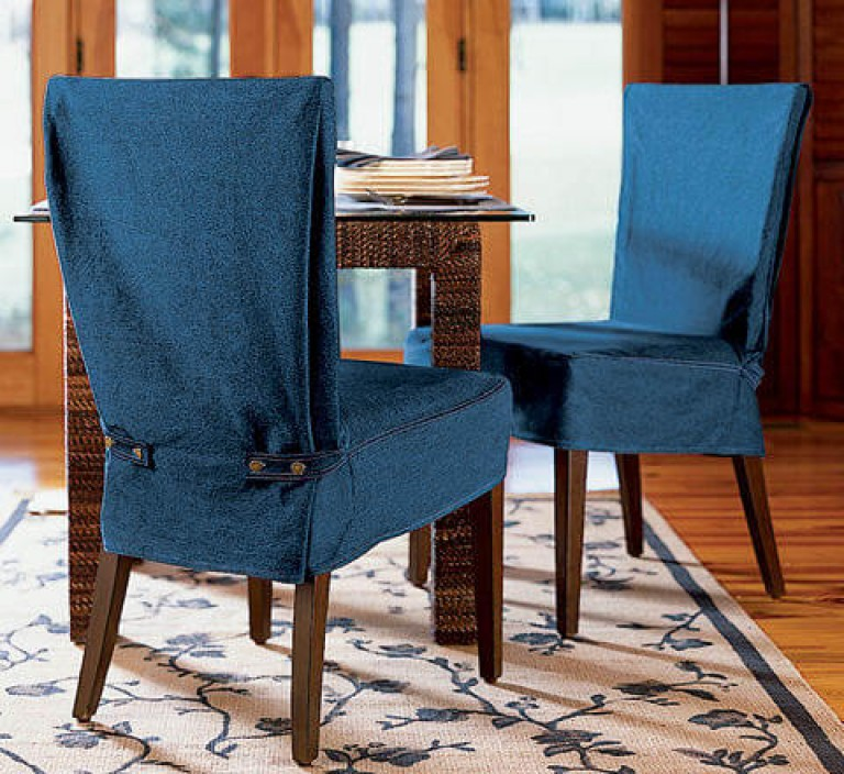 Накидка на стул своими руками из ткани