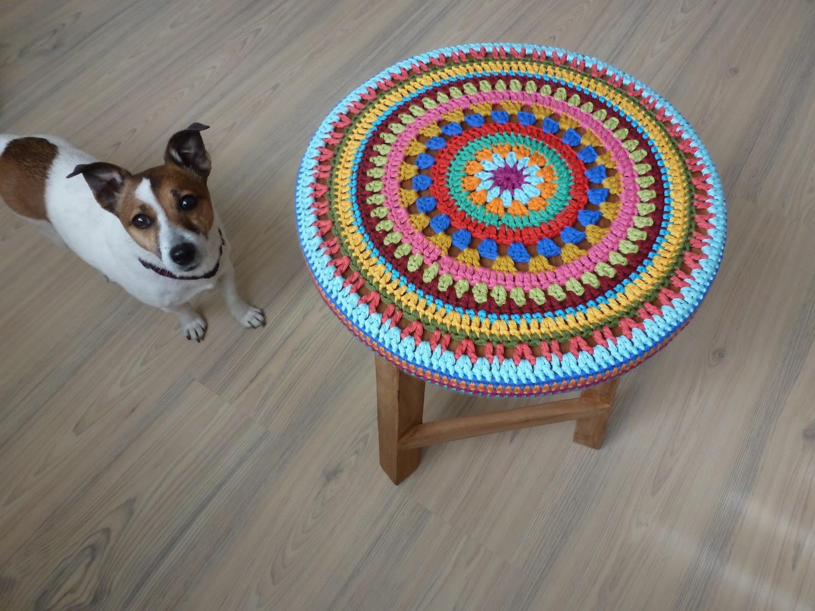 Декоративные сидушки для стула крючком. Схемы Knit crochet 91